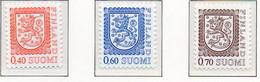 PIA - FINLANDIA  - 1975 : Uso Corrente - Leone Rampante Nuovo Tipo - (Yv 724-26) - Finland