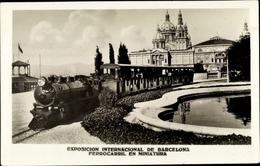 Cp Barcelona Katalonien, Exposicion Internacional, Ferrocarril En Miniatura - Espagne