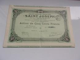 Immobilière SAINT JOSEPH (1928) Périgueux,dordogne - Actions & Titres