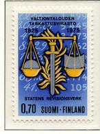 PIA - FINLANDIA - 1975 : 150° Anniversario Dell' Ufficio Di Controllo Dell' Economia - (Yv 730) - Finland