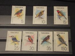 TANZANIA - 1993 UCCELLI 7 VALORI - NUOVI(++) - Tanzania (1964-...)