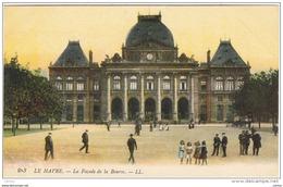 LE  HAVRE:  LA  FACADE  DE  LA  BOURSE  -  FP - Collector Fairs & Bourses