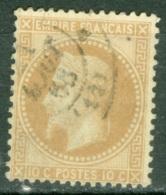 France  28A   Ob  TB Obli Cad - 1863-1870 Napoleon III With Laurels