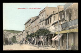 ALGERIE - ALGER - MUSTAPHA - RUE SADI-CARNOT - CARTE COLORISEE - Alger