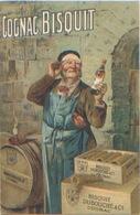 Publicité, Alcool, Cognac Bisquit Dubouché & Co, N'a Pas Circulé, Dos Divisé, TRÈS BON ÉTAT, Réf. RC Cognac N°229 - Advertising