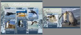 GUINEA BISSAU 2019 MNH Antarctica Animals Antarktis Tiere Animaux Antarctiques M/S+S/S - OFFICIAL ISSUE - DH1920 - Faune Antarctique