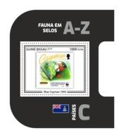 GUINEA BISSAU 2019 MNH Stamps On Stamps Briefmarken Af Marken WWF Cayman Islands S/S 15 - IMPERFORATED - DH1920 - Timbres Sur Timbres