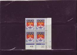 N° 1183 - 1F BORDEAUX - A De A+B - Tirage Du 10.9.58 Au 6.10.58 - 30.09.1958 - - Coins Datés