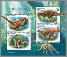 MALDIVES 2019 MNH Dinosaurs Dinosaurier Dinosaures M/S - OFFICIAL ISSUE - DH1920 - Prehistorics