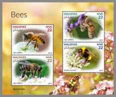 MALDIVES 2019 MNH Bees Bienen Abeilles M/S - OFFICIAL ISSUE - DH1920 - Abejas