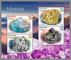 MALDIVES 2019 MNH Minerals Mineralien Mineraux M/S - IMPERFORATED - DH1920 - Minerals