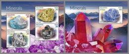 MALDIVES 2019 MNH Minerals Mineralien Mineraux M/S+S/S - IMPERFORATED - DH1920 - Minerals