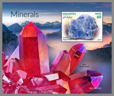MALDIVES 2019 MNH Minerals Mineralien Mineraux S/S - IMPERFORATED - DH1920 - Minerals
