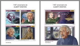 MOZAMBIQUE 2019 MNH Albert Einstein M/S+S/S - IMPERFORATED - DH1920 - Albert Einstein