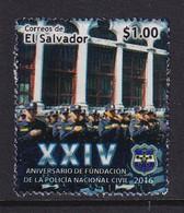 El Salvador 2016, $1 Police, Vfu - El Salvador