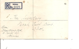 Malaisie ( Lettre Recommandée De 1957 De Bruas Vers Perak à Voir) - Malayan Postal Union