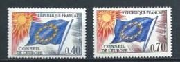 FRANCIA 1969 YT-31+35 ** CONSEJO DE EUROPA (VER NOTA) - Nuevos