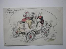 Illustrateur P. Kauffmann, Grisés Par La Vitesse (A8p58) - Kauffmann, Paul