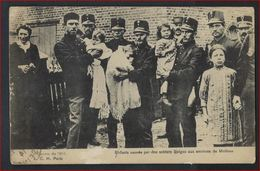 Postkaart Van GUERRE 1914 ENFANTS SAUVES PAR DES SOLDATS BELGES AUX ENVIRONS DE MALINES ; Staat Zie 2 Scans ! - Guerre 1914-18