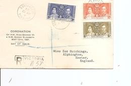 Seychelles ( Lettre Recommandée En Premier Jour De 1937 De Victoria Vers La Grande-Bretagne à Voir) - Seychelles (...-1976)
