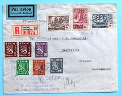 Finland  1937 Air Mail Registered Cover - Briefe U. Dokumente