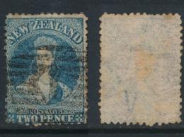 NEW ZEALAND, 1864 2d Chalon Blue Plate II Fine Used, SG115, Cat £22 - Gebruikt