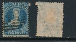NEW ZEALAND, 1864 2d Chalon Blue Plate II Fine Used, SG115, Cat £22 - 1855-1907 Kolonie Van De Kroon