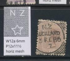 NEW ZEALAND, 1882 6d Wmk 6a P12x11½ Fine Used - Gebruikt