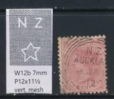 NEW ZEALAND, 1888 1/- Wmk 6b P12x11½ Fine Used - Gebruikt