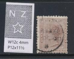 NEW ZEALAND, 1888 6d Wmk 6c P12x11½ Fine Used, Cat £50 - Gebruikt
