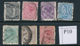 NEW ZEALAND, 1891 To 1/- (all P10), Cat £42 - Gebruikt