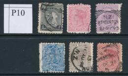 NEW ZEALAND, 1891 To 1/- (all P10) #4, Cat £34 - Gebruikt