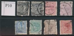 NEW ZEALAND, 1891 To 1/- (all P10) #5, Cat £43 - Gebruikt