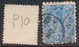 NEW ZEALAND, 1891 2½d Blue (P10) Fine Used - Gebruikt