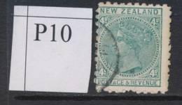 NEW ZEALAND, 1891 4d Green (P10) Fine Used, SG222, Cat £8 - Gebruikt