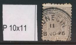 NEW ZEALAND, 1891 6d (P10x11) Fine Used, Cat £20 - Gebruikt
