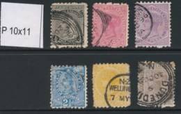 NEW ZEALAND, 1891 To 1/- (all P10x11), Cat £47 - Gebruikt