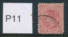NEW ZEALAND, 1895 1/- (P11) Fine Used, Cat £7 - Gebruikt