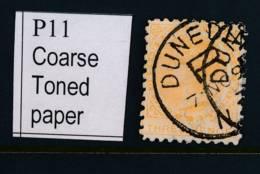 NEW ZEALAND, 1891 3d (P10) Coarse Paper Fine Used, SG240a, Cat £27 - Gebruikt