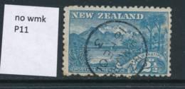 NEW ZEALAND, 1899 2½d P11 No Wmk Fine Used - Gebruikt