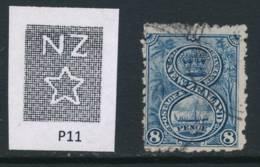 NEW ZEALAND, 1902 8d (wmk NZ, P11) Fine Used, Cat £11 - Gebruikt