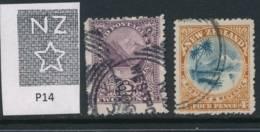 NEW ZEALAND, 1902 2d, 4d (wmk NZ, P14) Fine Used - Gebruikt