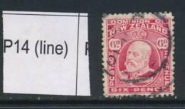 NEW ZEALAND, 1909 6d P14 (line) Fine Used, SG398, Cat £10 - Gebruikt