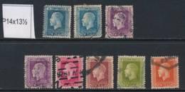 NEW ZEALAND, 1915 To 1/- (all P14x13½), Cat £15 - Gebruikt