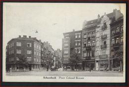 Postkaart Van SCHAERBEEK  PLACE COLONEL BREMER  ; Staat Zie 2 Scans ! - Schaerbeek - Schaarbeek
