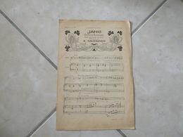 Jane - Tristesse & Vendanges Fleuries (Musique A. Sauvrezis -P. Viardot -M. Lapeyrre)- Partition Piano - Instruments à Clavier