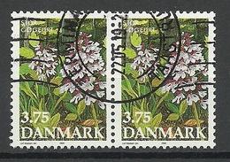 DENMARK Dänemark Danmark 1990 Michel 983 Grosses Knabenkraut As Pair O - Pflanzen Und Botanik