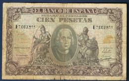 ESPAGNE 100 PESETAS Du 9 JANVIER 1940 En TB N° E7.002811 - [ 3] 1936-1975: Regime Van Franco