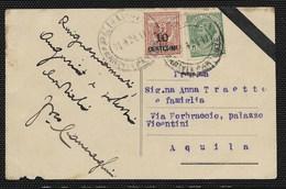 DA PESCARA A AUILA - 23.4.1921 - EX LIBRIS. - 1900-44 Vittorio Emanuele III