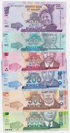 Malawi SET - 20 50 100 200 500 1000 1.000 Kwacha 2012 2017 - UNC - Malawi